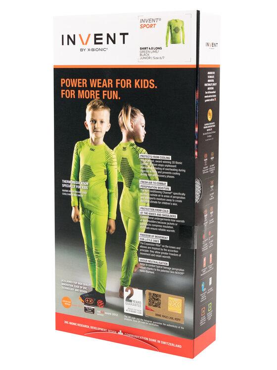 X-Bionic X-Bionic Bielizna termoaktywna górna Invent 4.0 INYT06W19J Zielony Slim Fit
