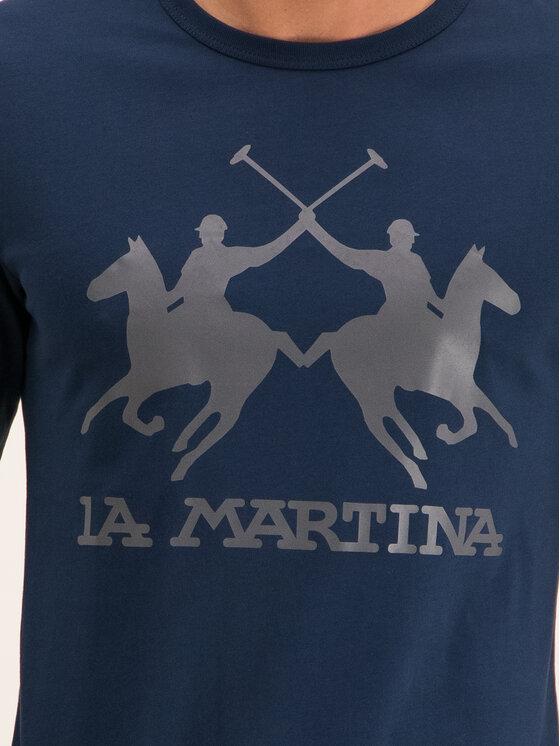 La Martina La Martina Longsleeve OMR004 JS206 Σκούρο μπλε Regular Fit