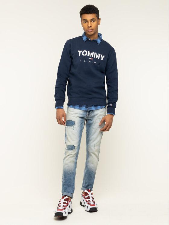 Tommy Jeans Tommy Jeans Bluza Tjm Novel Logo Crew DM0DM07614 Granatowy Regular Fit