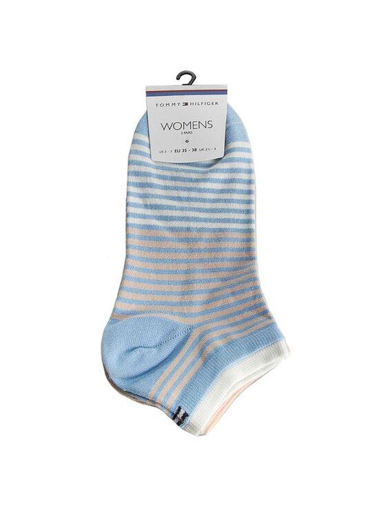 TOMMY HILFIGER TOMMY HILFIGER Moteriškų trumpų kojinių komplektas (2 poros) 373006001 Mėlyna
