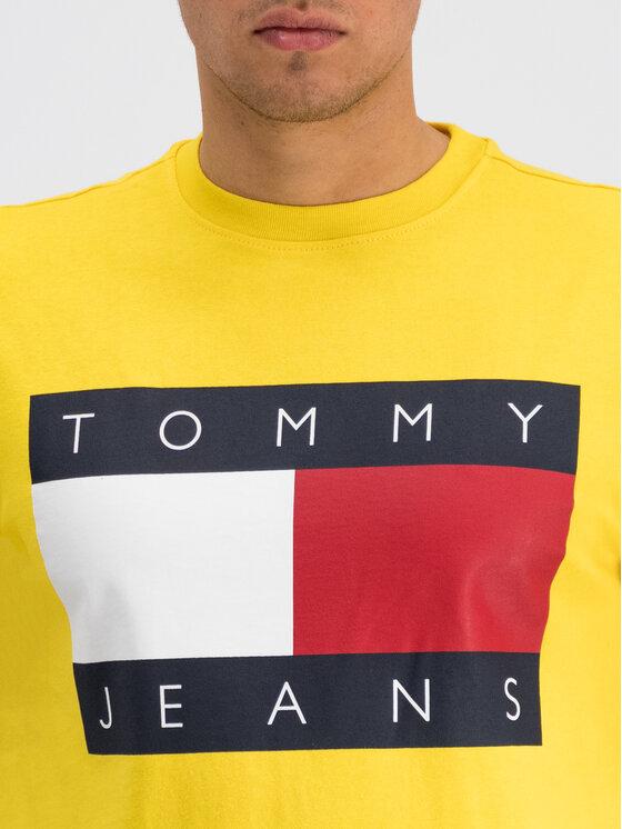 Tommy Jeans Tommy Jeans Marškinėliai Flag Logo DM0DM07009 Geltona Regular Fit