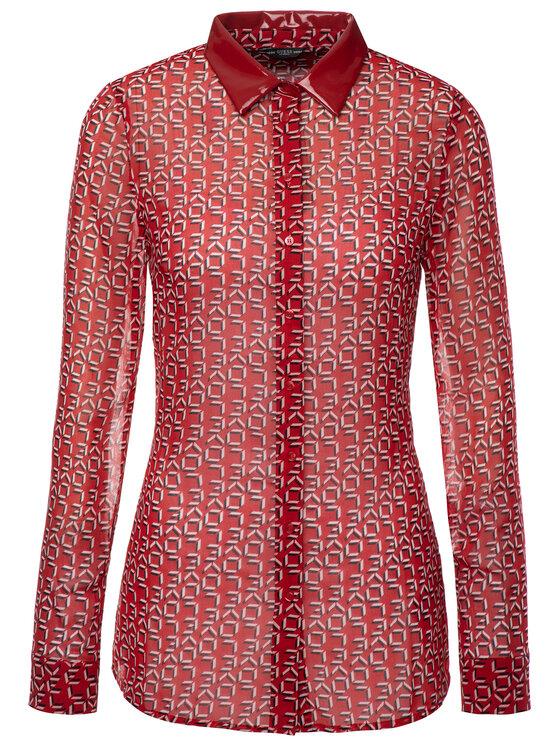 Guess Guess Košeľa W93H91 WBTY0 Červená Regular Fit