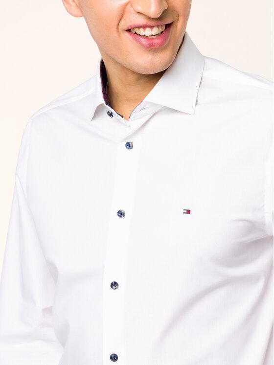 Tommy Hilfiger Tailored Tommy Hilfiger Tailored Košile TT0TT05557 Bílá Slim Fit