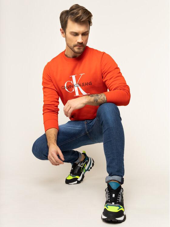 Calvin Klein Jeans Calvin Klein Jeans Džemperis Monogram Logo J30J314692 Raudona Regular Fit