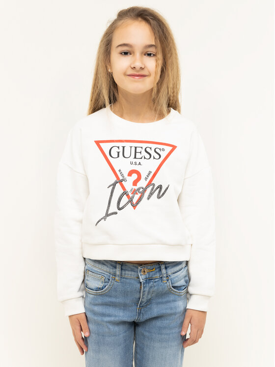 Guess Guess Μπλούζα Icon J01Q05 K8D80 Λευκό Regular Fit