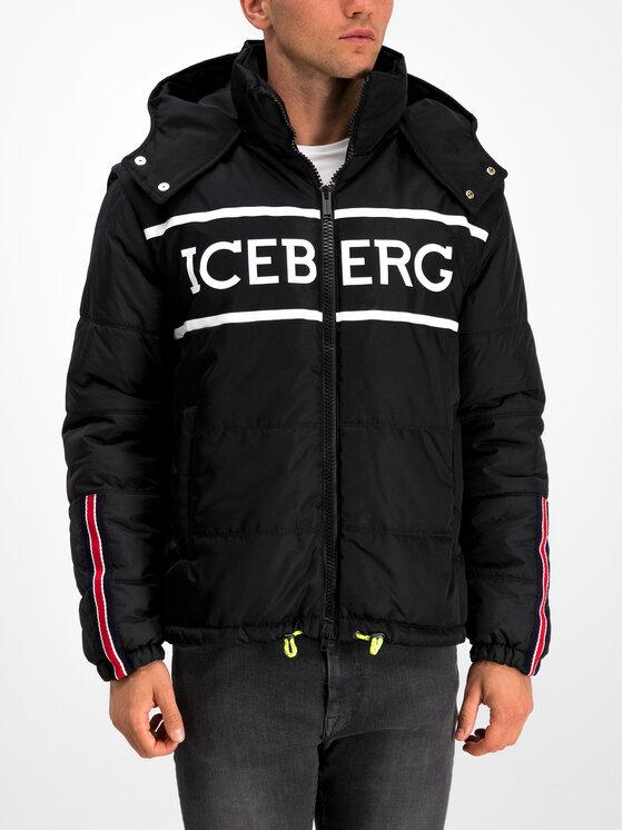 Iceberg Iceberg Μπουφάν χειμωνιάτικο 19I1P000305347 Μαύρο Regular Fit