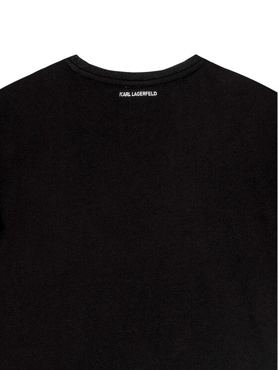 KARL LAGERFELD KARL LAGERFELD Sukienka codzienna Z12150 S Czarny Regular Fit