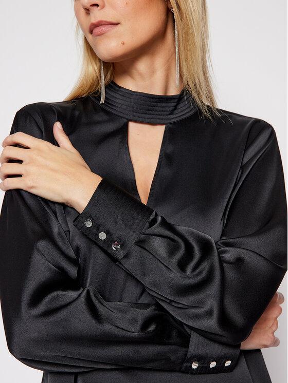 DKNY DKNY Bluzka P0JAVHOQ Czarny Regular Fit