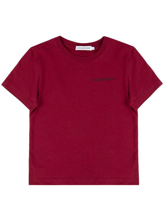 Calvin Klein Jeans Calvin Klein Jeans T-Shirt IB0IB00273 Bordowy Regular Fit