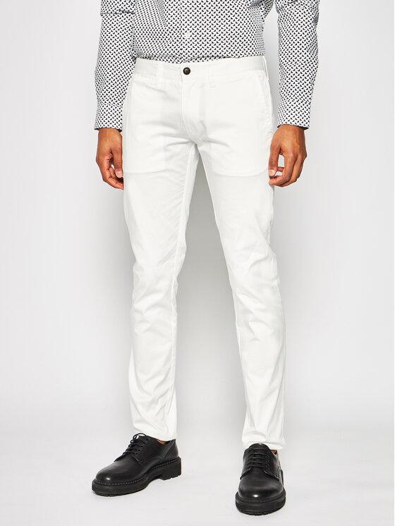 Emporio Armani Emporio Armani Pantaloni di tessuto 3H1P20 1NEDZ 0101 Bianco Slim Fit