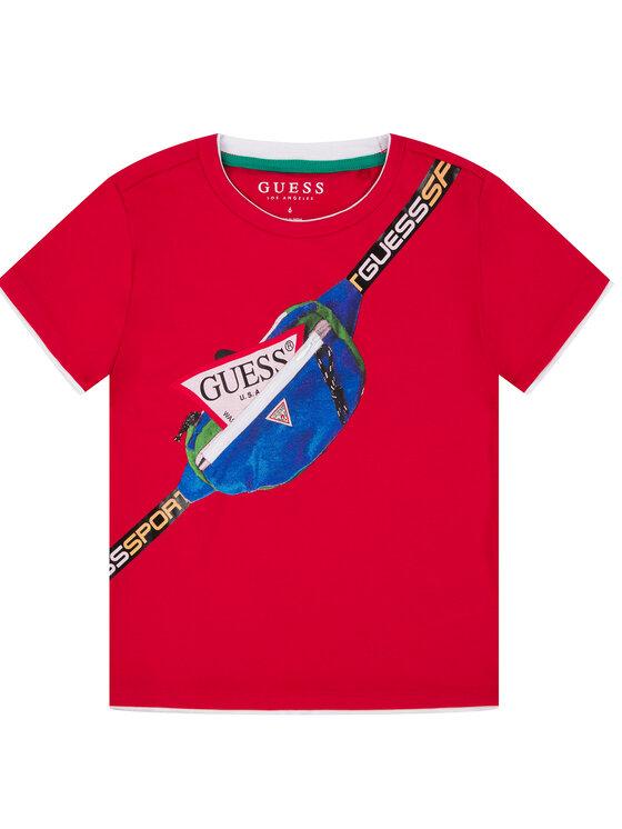 Guess Guess T-Shirt N93I09 K82E0 Κόκκινο Regular Fit
