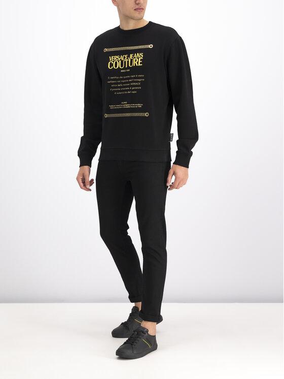 Versace Jeans Couture Versace Jeans Couture Sweatshirt B7GUA7FN Schwarz Regular Fit