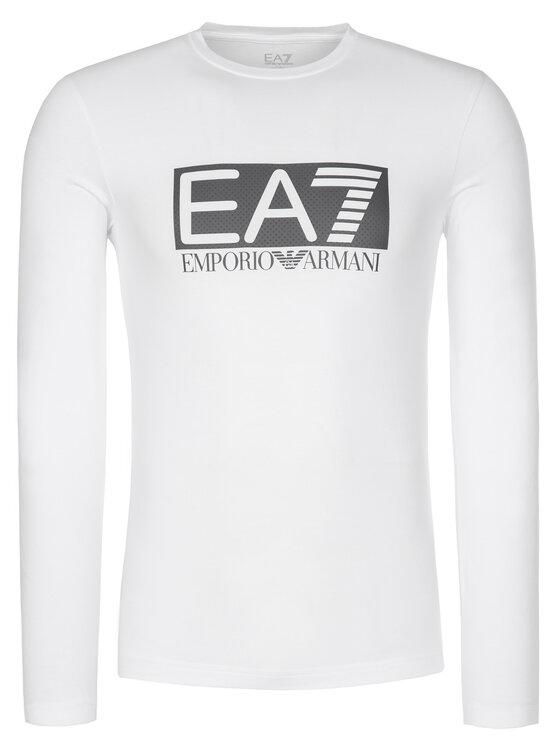 EA7 Emporio Armani EA7 Emporio Armani Longsleeve 3GPT64 PJ03Z 1100 Biały Regular Fit