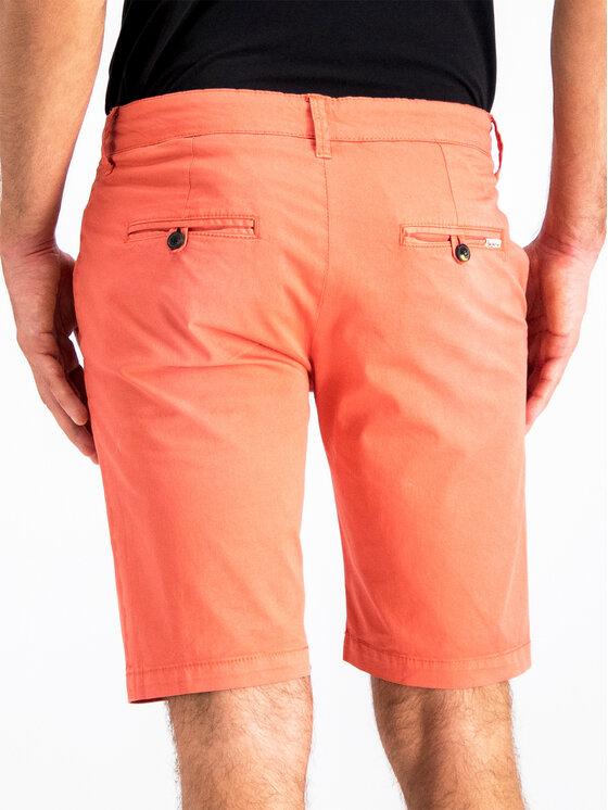 Pepe Jeans Pepe Jeans Šortky z materiálu PM800227C75 Oranžová Regular Fit