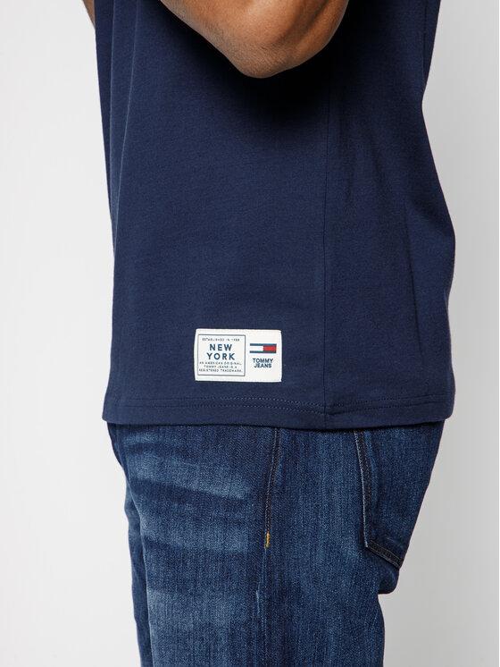 Tommy Jeans Tommy Jeans Póló Corp Logo DM0DM07194 Sötétkék Regular Fit