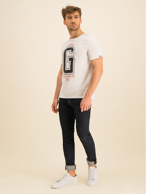 Guess Guess Tricou M94I59 K8FQ0 Alb Regular Fit