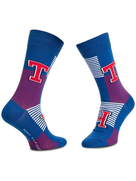 Tommy Hilfiger Tommy Hilfiger Sada 2 párů pánských vysokých ponožek 392017001 Tmavomodrá