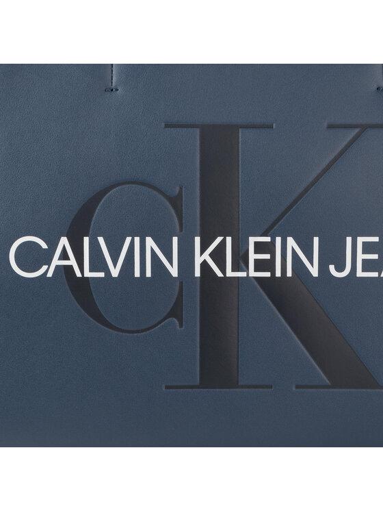 Calvin Klein Jeans Calvin Klein Jeans Torebka Sculpted Monogram E/W Tote29 K60K605521 Granatowy