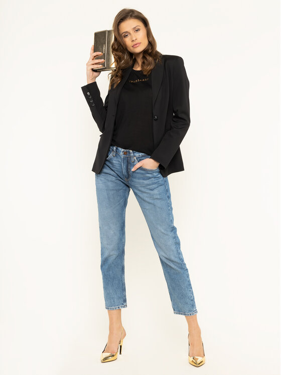 Trussardi Jeans Trussardi Jeans T-shirt 56T00242 Nero Regular Fit