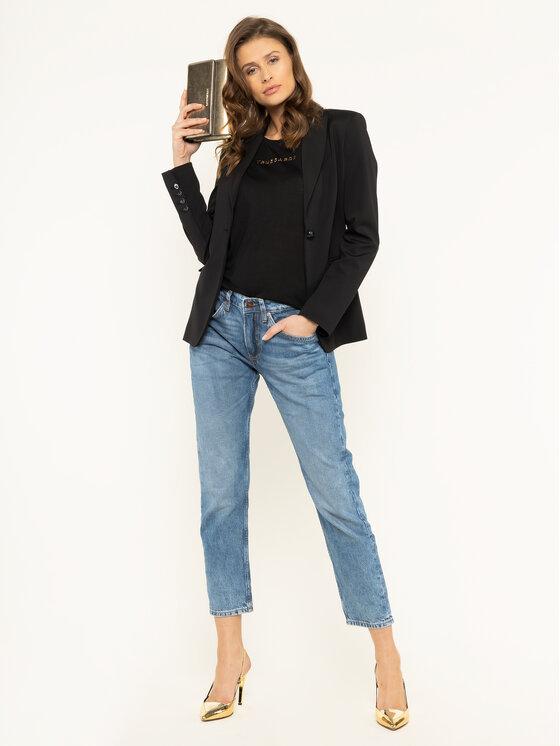 Trussardi Jeans Trussardi Jeans Tricou 56T00242 Negru Regular Fit