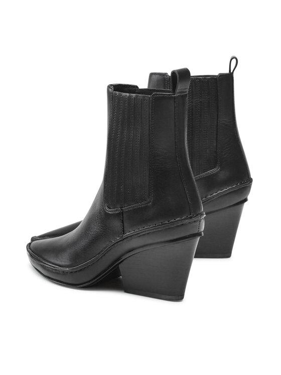 Tory Burch Tory Burch Čizme Lila Heeled Ankle Boot 85448 Crna