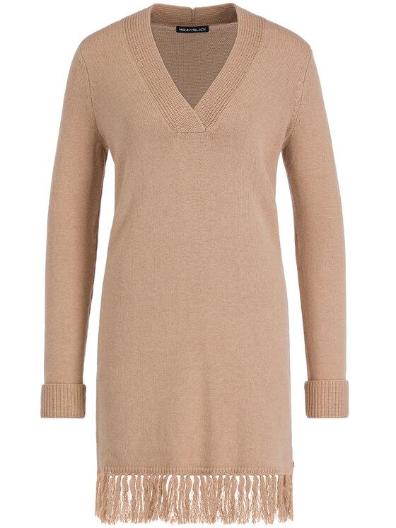 Pennyblack Pennyblack Úpletové šaty Olifante 23245119 Béžová Regular Fit
