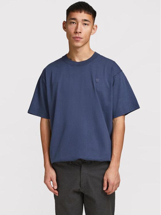 Jack&Jones PREMIUM Marškinėliai Blu Julio 12183772 Tamsiai mėlyna Regular Fit