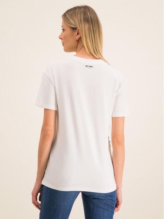 My Twin My Twin Marškinėliai 201MP235H Balta Regular Fit