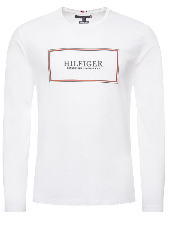 TOMMY HILFIGER TOMMY HILFIGER Manches longues MW0MW11818 Blanc Regular Fit