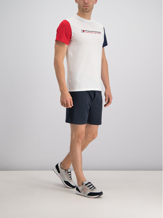 Tommy Sport Tommy Sport Тишърт S20S200103 Бял Regular Fit