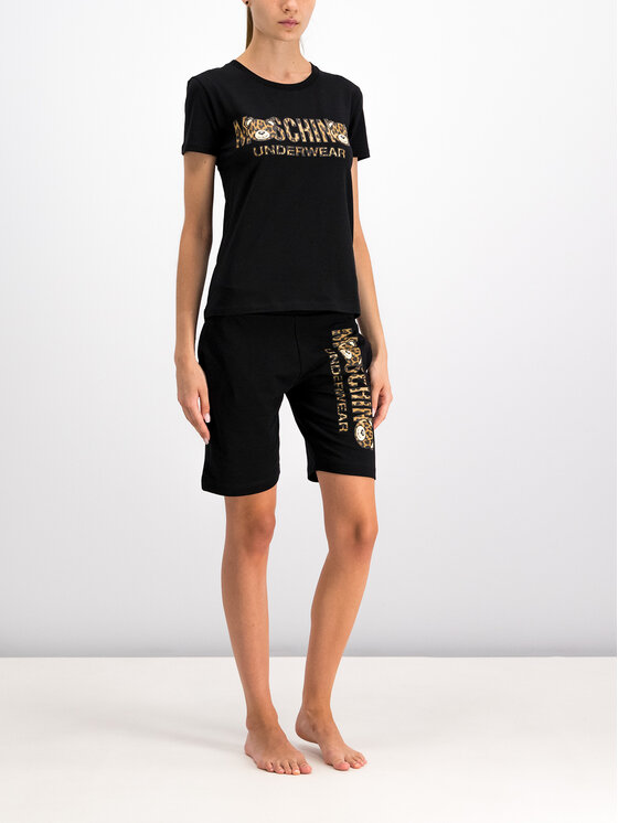 MOSCHINO Underwear & Swim MOSCHINO Underwear & Swim T-Shirt A1913 9003 Czarny Regular Fit