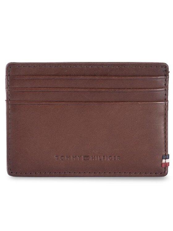 Tommy Hilfiger Tommy Hilfiger Etui na karty kredytowe Th Burnished Cc Holder AM0AM02655 Brązowy