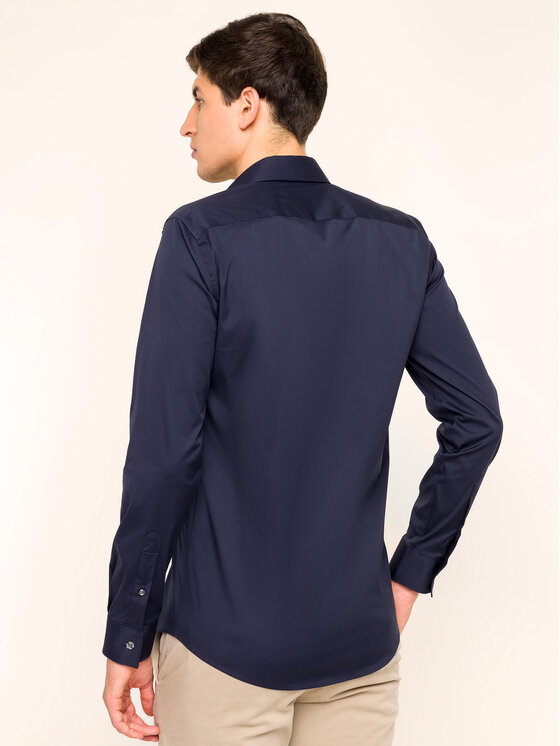 Lacoste Lacoste Košeľa CH5366 Tmavomodrá Slim Fit