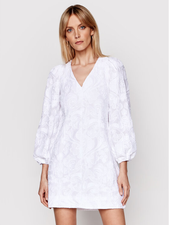 Samsøe Samsøe Kasdieninė suknelė Anai F21100062 Balta Regular Fit