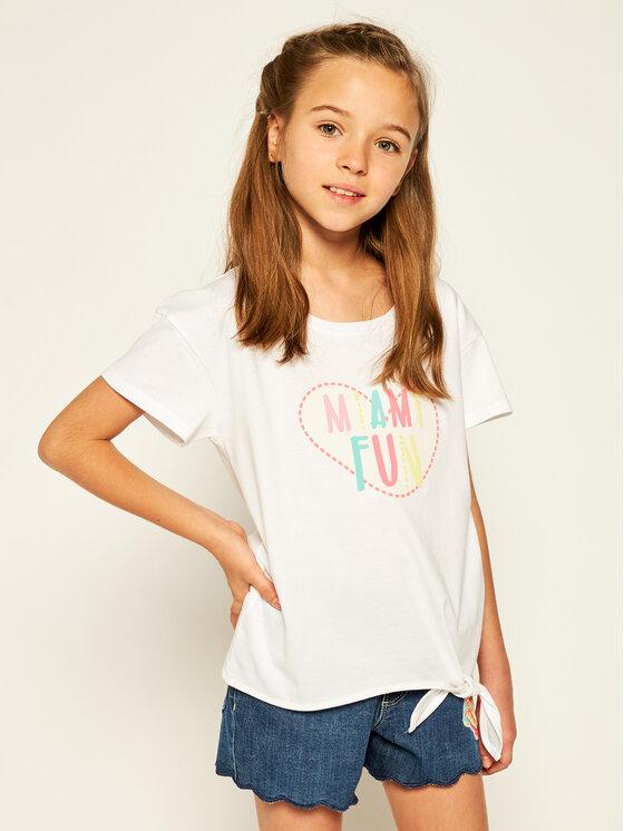 Billieblush Marškinėliai U15718 Balta Regular Fit