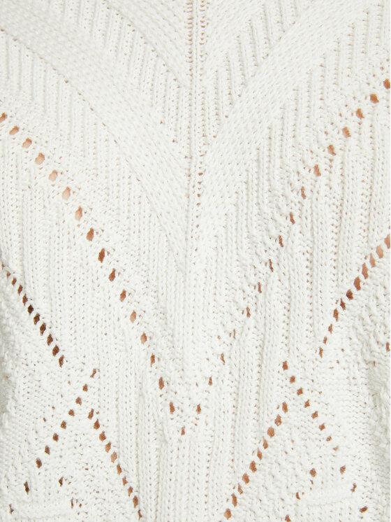 Morgan Morgan Sweter 211-MERKI Biały Regular Fit