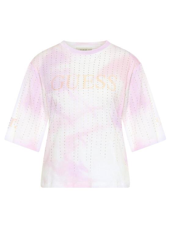 Guess Guess Tricou Pastel Tee W0GI83 K46D0 Roz Oversize