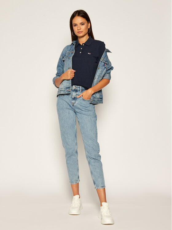 Tommy Jeans Tommy Jeans Polokošile Classics DW0DW07641 Tmavomodrá Regular Fit