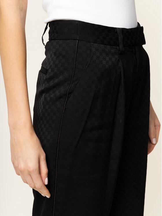 MICHAEL Michael Kors MICHAEL Michael Kors Kalhoty z materiálu Logo MF93H7GCBT Černá Regular Fit