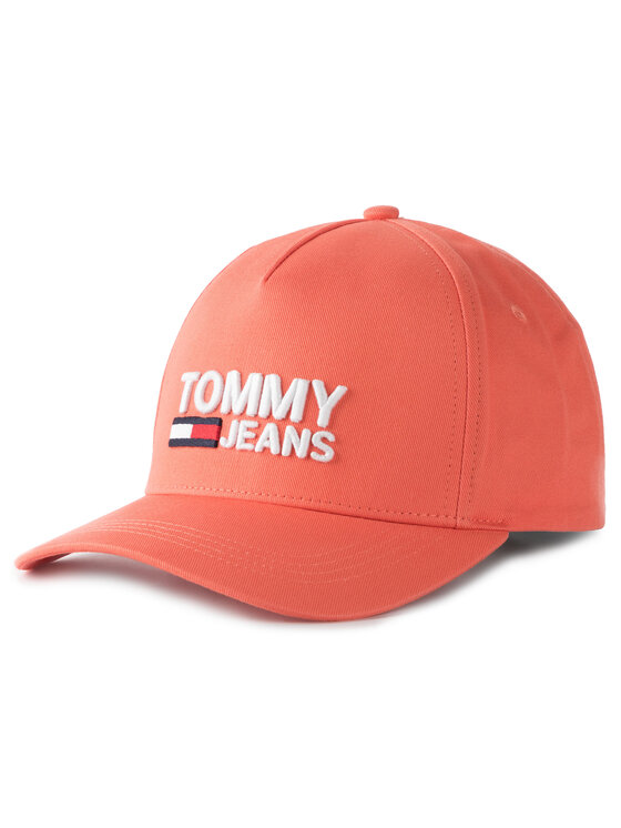 Tommy Jeans Tommy Jeans Καπέλο Jockey Tjw Logo Cap AW0AW07037 Πορτοκαλί