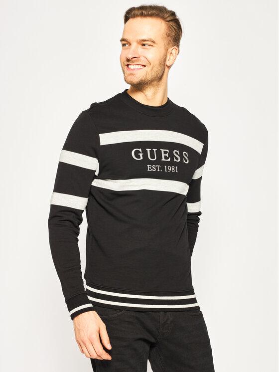 Guess Guess Bluză M01Q23 K81V0 Negru Regular Fit