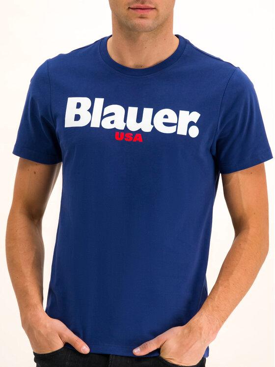Blauer Blauer Marškinėliai 19WBLUH02231 005568 Tamsiai mėlyna Regular Fit