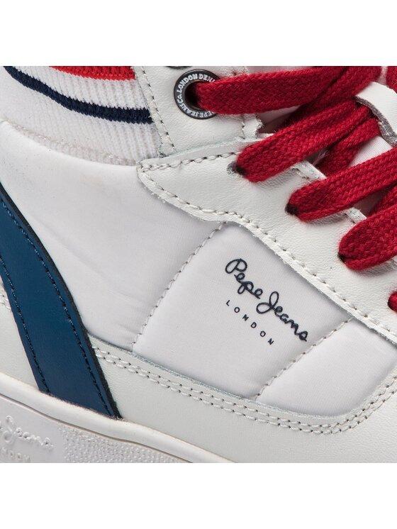 Pepe Jeans Pepe Jeans Сникърси Brompton Sock PBS30368 Бял
