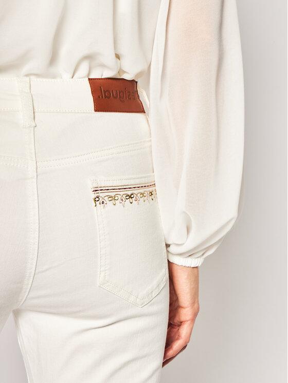 Desigual Desigual Дънки тип Slim Fit India 20SWDD03 Бял Slim Fit