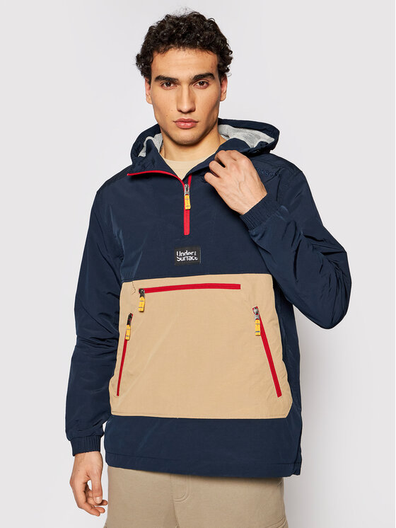 Didriksons Anorak stiliaus striukė Vilmer 503654 Tamsiai mėlyna Relaxed Fit