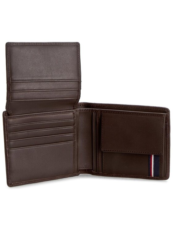 Tommy Hilfiger Tommy Hilfiger Duży Portfel Męski Casual Cc Flap And Coin Pocket AM0AM01273 Brązowy