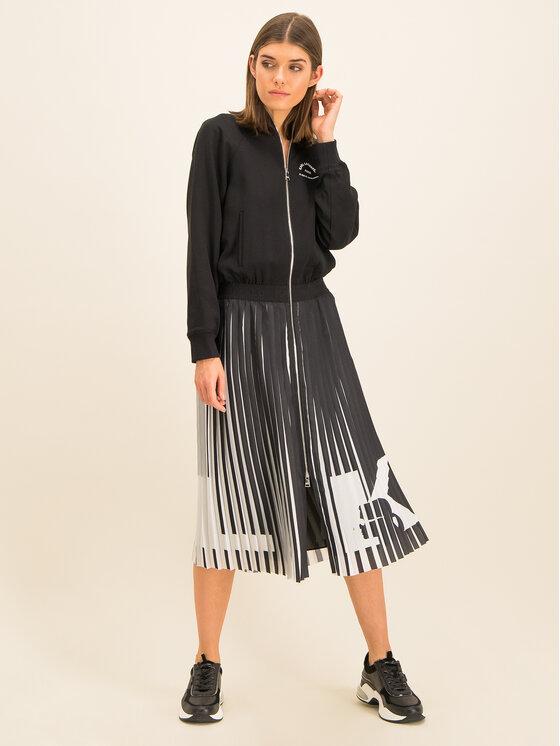 KARL LAGERFELD KARL LAGERFELD Ежедневна рокля OLIVIA PALERMO Rue St Guillaume Pleated 96KW1302 Черен Regular Fit