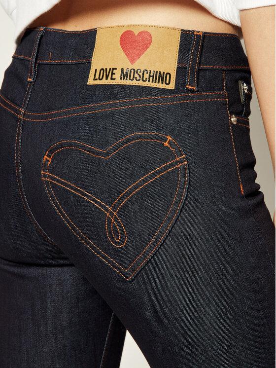 LOVE MOSCHINO LOVE MOSCHINO Blugi WQ40400S 3299 Bleumarin Regular Fit