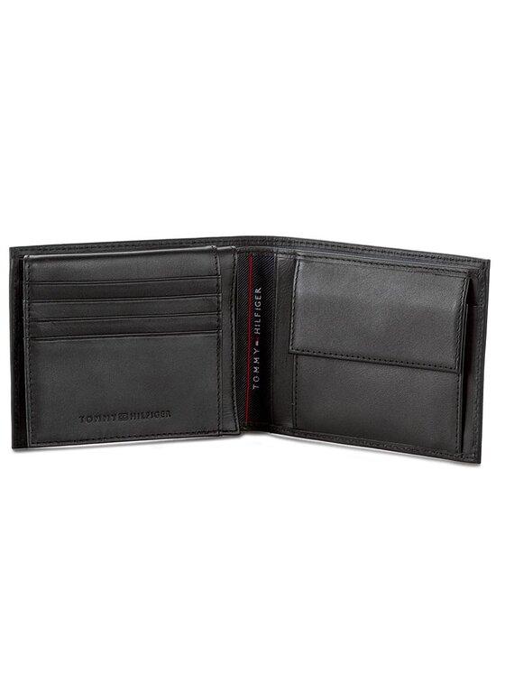 Tommy Hilfiger Tommy Hilfiger Голям мъжки портфейл Harry Ho Cc Flap And Coin Pocket AM0AM01711 Черен