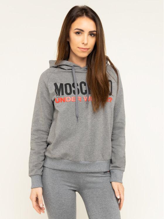 MOSCHINO Underwear & Swim Džemperis A1711 9001 Pilka Regular Fit
